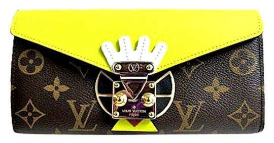 Preload https://item3.tradesy.com/images/louis-vuitton-monogram-browns-yellow-mint-limited-tribal-mask-sarah-long-wallet-6181567-0-0.jpg?width=440&height=440