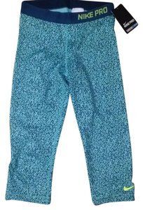 Nike NWT Teal Cheetah Pattern Nike Pro Leggings
