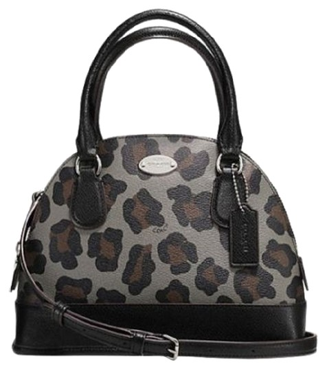 Preload https://item1.tradesy.com/images/coach-mini-domed-cora-in-ocelot-print-coated-canvas-silvergrey-multi-debossed-patent-leather-satchel-6181810-0-1.jpg?width=440&height=440
