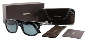 Tom Ford Tom Ford Campbell TF198 01A Black Shiny Square Unisex Sunglasses