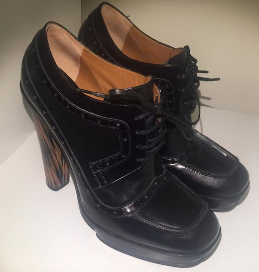 Fendi Leather Oxford black Boots