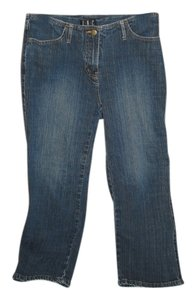 INC International Concepts Capri/Cropped Denim-Dark Rinse
