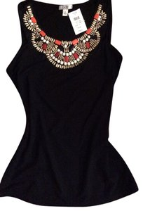 Cache Embellished Jeweled Beaded Top
