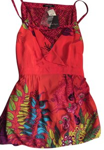 Nanette Lepore Designer Top Orange Soda, Multi Colored