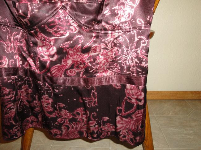 INC International Concepts Silk Top Burgundy, pink hues, and red hues