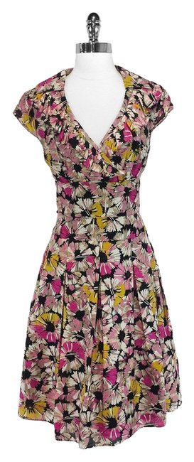 Kay Unger short dress Multi Color Floral Print Silk on Tradesy