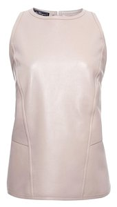 Salvatore Ferragamo Leather Top Light Grey