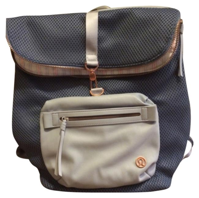 Item - Blue with Light Blue and Rose Gold Zippers Backpack