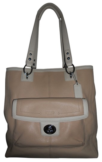 Preload https://item5.tradesy.com/images/coach-penelope-ns-f19264-tan-and-ivory-leather-tote-6188674-0-0.jpg?width=440&height=440