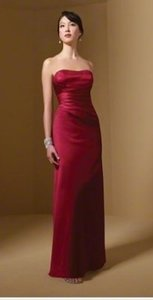 Alfred Angelo Red Satin Style 7027 Formal Bridesmaid/Mob Dress Size 2 (XS)