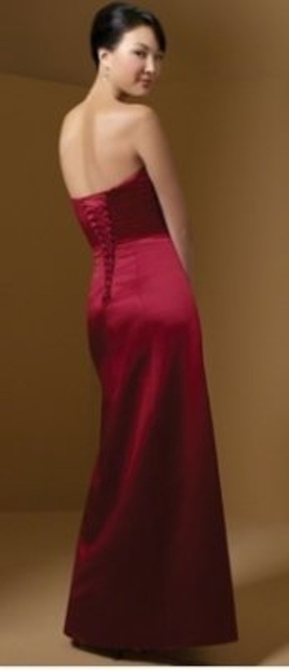 Alfred Angelo Red Satin Style 7027 Formal Bridesmaid/Mob Dress Size ...