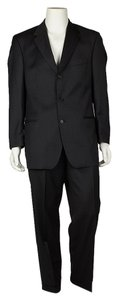 Hugo Boss Hugo Boss Men Black Wool Pant Suit Size 42 (42598)