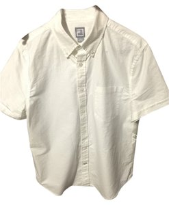 JCPenney Mens Jcp Button Up Button Down Shirt White