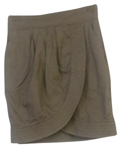 French Connection Mini Skirt Khaki