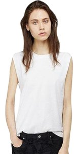 Isabel Marant Metal Details Raw Edge Top WHITE