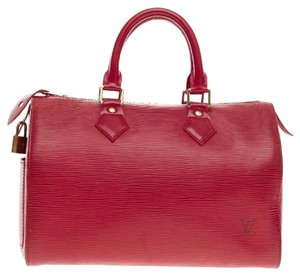 Louis Vuitton Speedy Satchel in Red