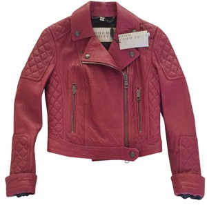 Burberry Brit Alizarin Crimson Leather Jacket