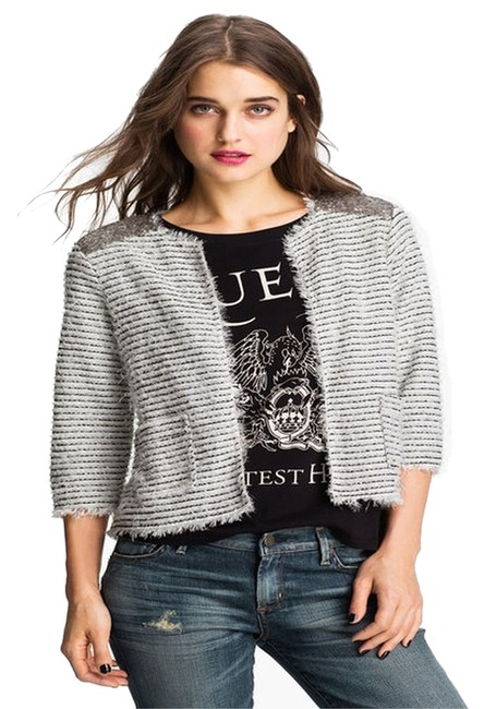 Preload https://item1.tradesy.com/images/willow-and-clay-black-and-white-stripe-blazer-6191815-0-2.jpg?width=400&height=650
