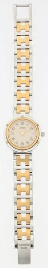 Hermès Hermes Gold Plated Stainless Steel Clipper PM Watch