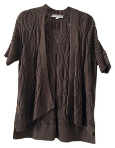 Ann Taylor LOFT Short Sleeve Open Front Sweater Fall Relaxed Cardigan
