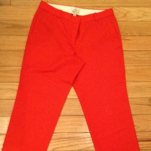 J.Crew Cafe Capri Crop Capri Red Capri/Cropped Pants Red/orange