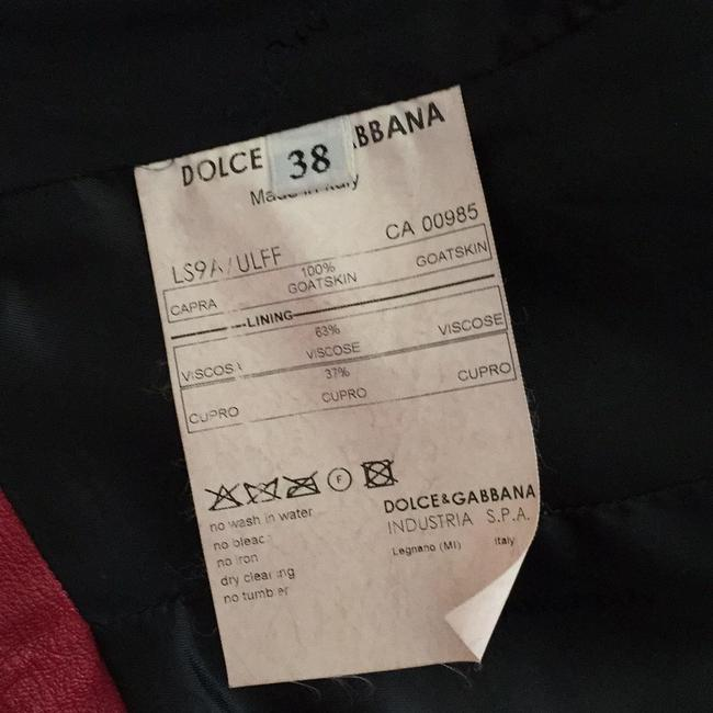 Dolce&Gabbana Red Leather Jacket