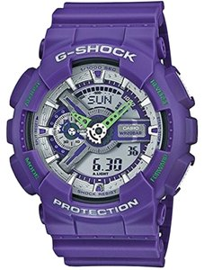 G-Shock G-Shock GA110DN-6ACR Men's Purple Analog/Digital Watch With Purple Dial