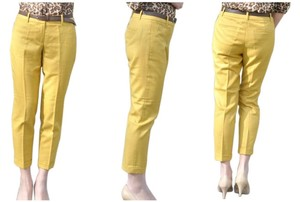 J.Crew Cafe Capri Capri Crops Wool Capri/Cropped Pants Yellow