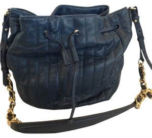 Elizabeth and James Satchel in NAVY BLUE