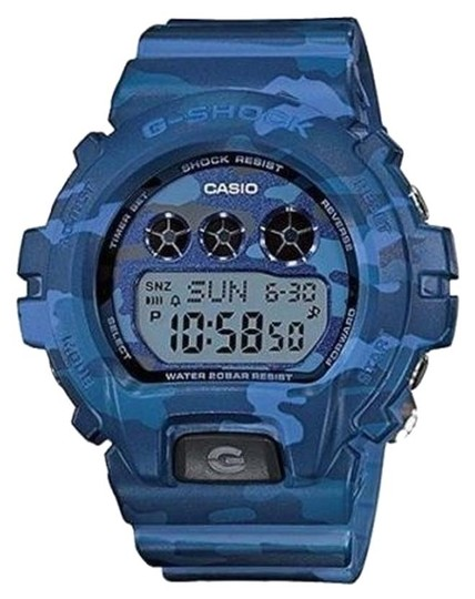 Casio Casio GMDS6900CF-2CR Women's Blue Camouflage Watch With Digital Dial