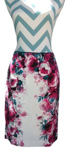 White House | Black Market Pencil Dressy Back Zip Skirt multi color