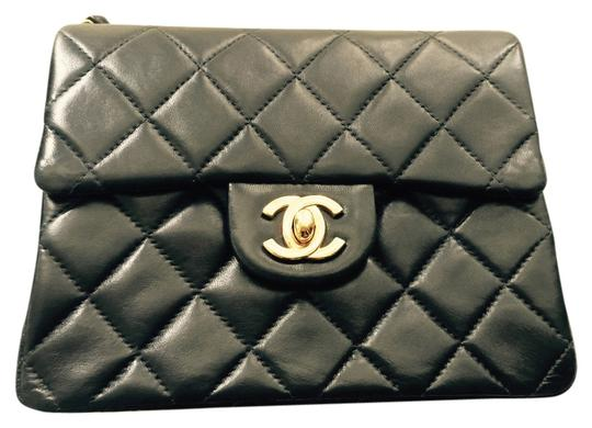 Chanel Mini Square Classic Single Flap 2.55 Quilted Lambskin Leather Gold Hardware Ghw Bijoux Chain 24k Plated Link Strap Gst Cross Body Bag