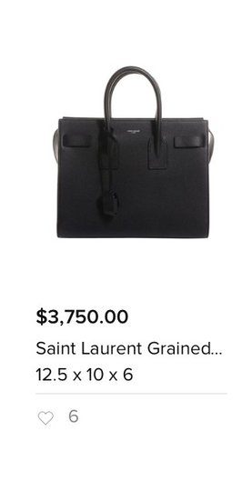 Saint Laurent Pairs Black Travel Bag