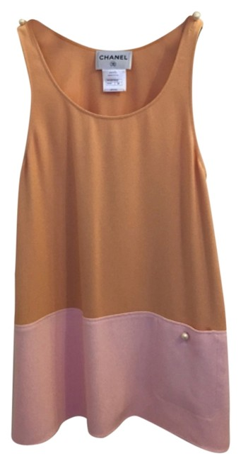 Item - Apricot/ Pink Viscose 34 Above Knee Short Casual Dress Size 2 (XS)