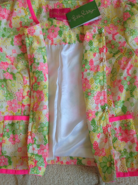Lilly Pulitzer Green, Pink, Yellow, White Blazer