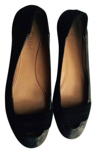 Chloé Leather Ballet Black Flats