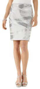 White House | Black Market Pencil Dressy Fully Lined Sequin Sparkle Skirt Gray