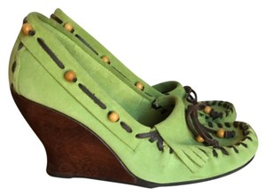 Sam Edelman Green Wedges