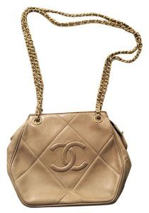 Chanel Cc Logos Chain Tote Leather Vintage Tassel Shoulder Bag