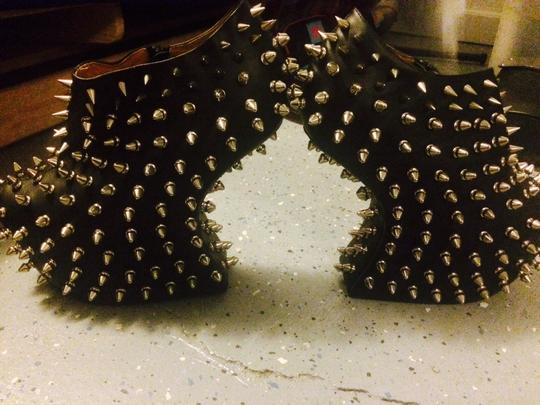 Jeffrey Campbell Shadow Stud Studded Spike Edgy Night Out Black Platforms