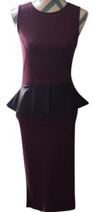 Bordeaux and black Maxi Dress by VENUS Night Out Date Night Nwot