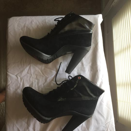 DKNY Black suede & patent leather Boots