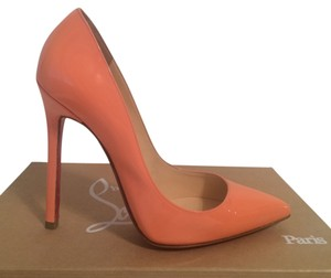 Christian Louboutin Pigalle Pump Patent Leather Peach Pumps