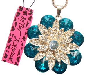 Betsey Johnson Betsey Johnson Crystal Flower Statement Necklace