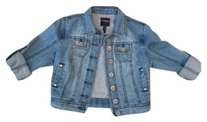 Lucky Brand Cropped Blue Denim Womens Jean Jacket