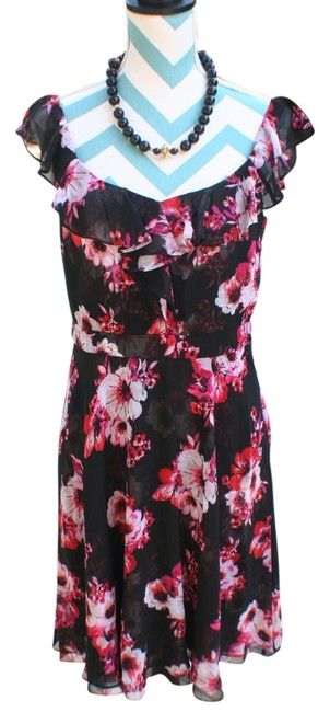 White House | Black Market short dress rose New With Tags Chiffon Ruffled Floral on Tradesy