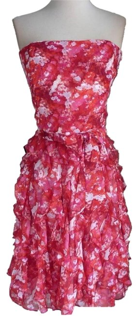 Preload https://item3.tradesy.com/images/white-house-black-market-red-pinks-ruffled-floral-chiffon-knee-length-short-casual-dress-size-8-m-6194827-0-2.jpg?width=400&height=650