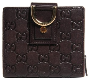 Gucci GUCCI Guccissima D Ring Compact Wallet