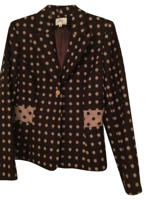 Preload https://item4.tradesy.com/images/milly-brown-and-light-pink-blazer-size-6-s-6194878-0-0.jpg?width=400&height=650