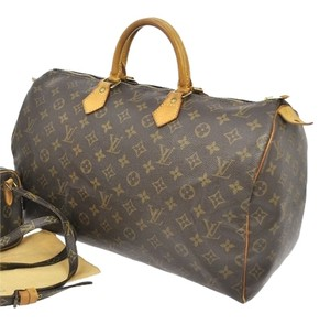 Louis Vuitton Leather Studded Tote in Monogram